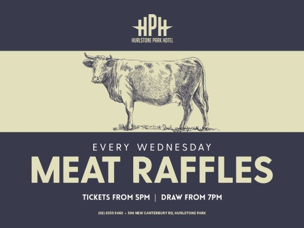 Hurlstone Park Hotel Meat Raffles