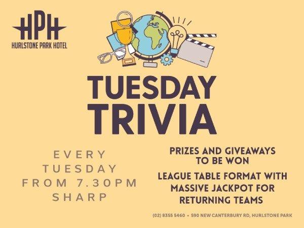 Hurlstone Park Hotel Tuesday Trivia