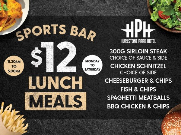 Sport bar $12 lunch meals