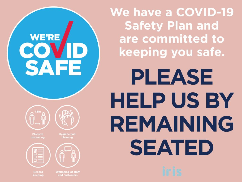 We're COVID safe